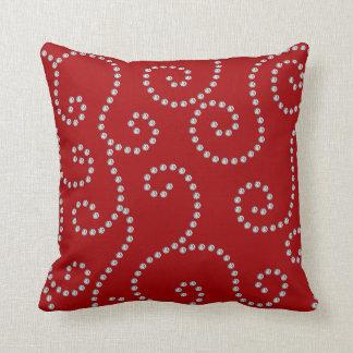 red diamond swirls throw pillow