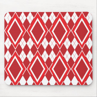 Red Diamonds Mouse Pad