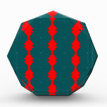 Red Diamonds on Green Acrylic Award