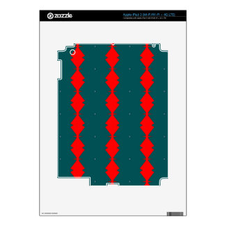Red Diamonds on Green iPad 3 Skin