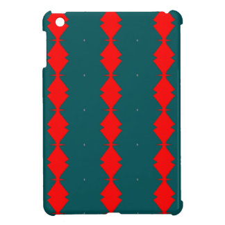 Red Diamonds on Green iPad Mini Cover