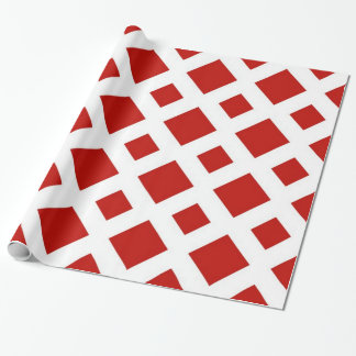 Red Diamonds on White Wrapping Paper