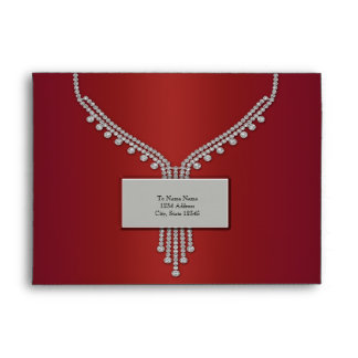 Red Diamonds Silver Name Plate Red Envelopes