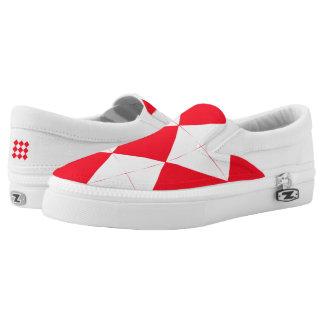 Red Diamonds Slip-On Sneakers