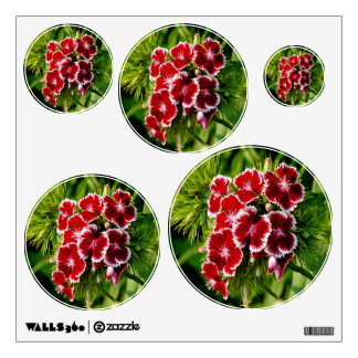 Red Dianthus 5 Wall Sticker