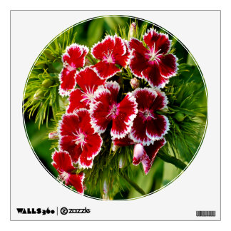 Red Dianthus Wall Decal