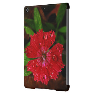 Red Dianthus With Raindrops Case For iPad Air