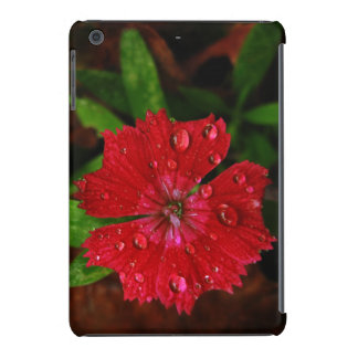 Red Dianthus With Raindrops iPad Mini Covers
