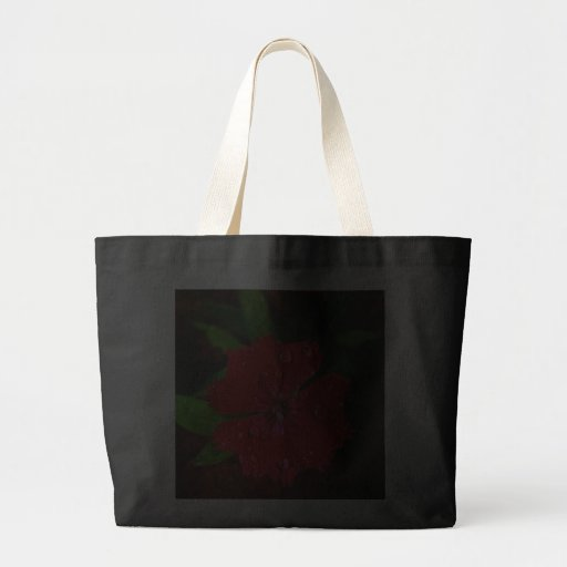 Red Dianthus With Raindrops Tote Bags