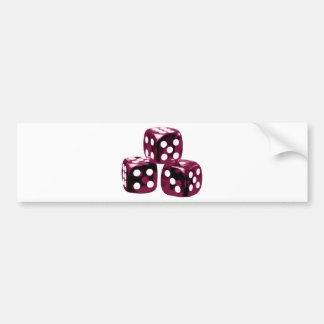 Red dice bumper sticker