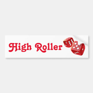 red dice bumper sticker