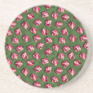 Red Dice Beverage Coaster