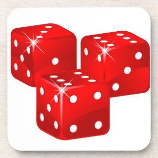 Red Dice Drink Coasters