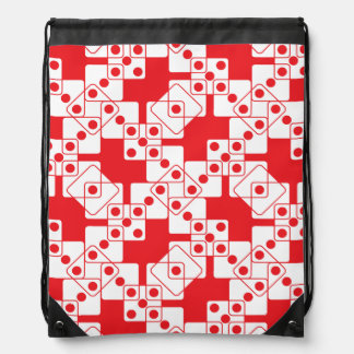 Red Dice Drawstring Bag