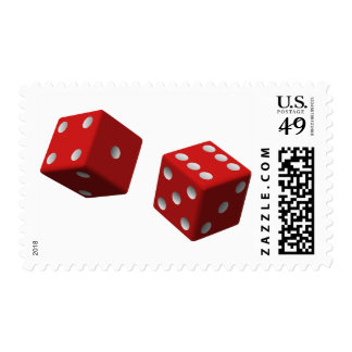 Red Dice Gambling Roleplay Luck Stamp