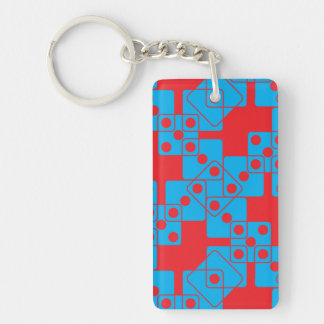 Red Dice Keychain