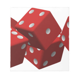 Red dice notepad