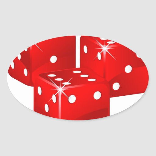 Red Dice Stickers