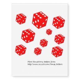 Red dice temporary tattoos
