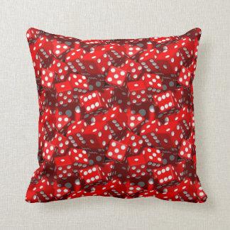 Red Dice Throw Pillow