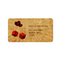 red dice Vintage Vegas adress labels