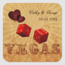 red dice Vintage Vegas favor stickers