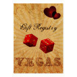 red dice Vintage Vegas Gift registry Large Business Cards (Pack Of 100)