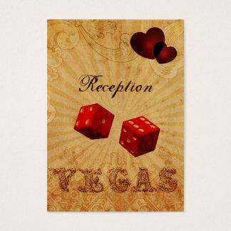red dice Vintage Vegas reception cards