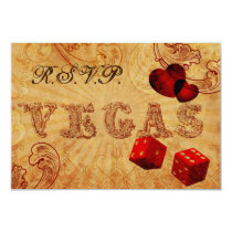 red dice Vintage Vegas rsvp 3.5 x 5 Card