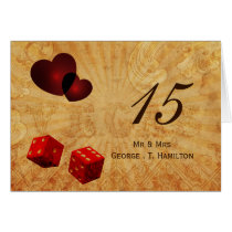 red dice Vintage Vegas table numbers