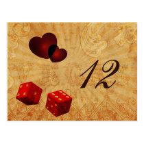 red dice Vintage Vegas table numbers
