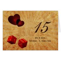 red dice Vintage Vegas table numbers Card