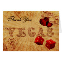 red dice Vintage Vegas Thank You Card