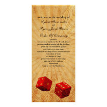 red dice Vintage Vegas wedding program