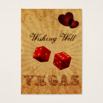 red dice Vintage Vegas wishing well card