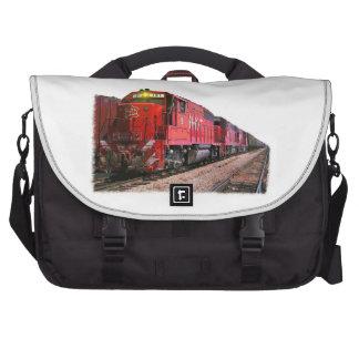 Red Diesel Locomotive Commuter Bags