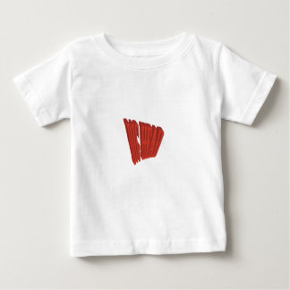 Red Dig Head Dry Brush Baby T-Shirt