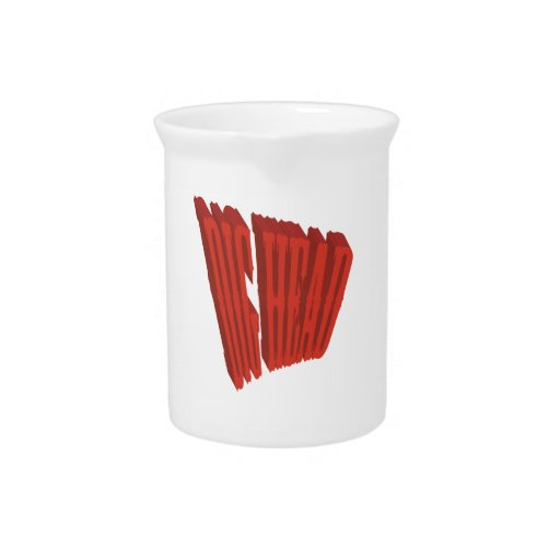 Red Dig Head Dry Brush Beverage Pitchers