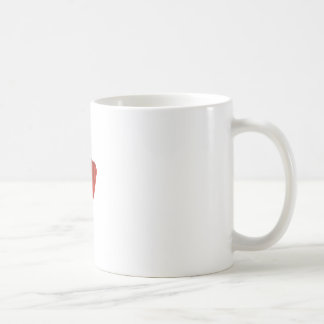 Red Dig Head Dry Brush Coffee Mug
