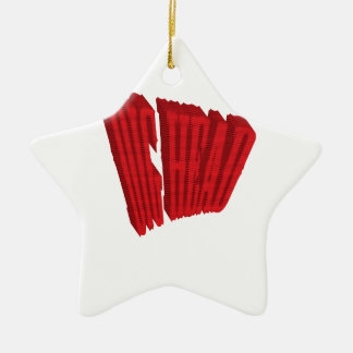 Red Dig Head Half Tone Ceramic Ornament