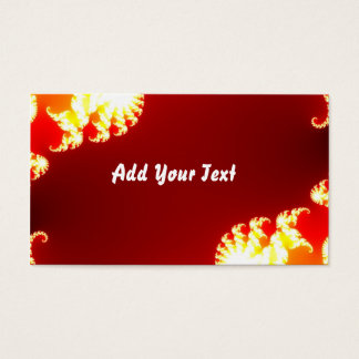 Red digital abstract business card