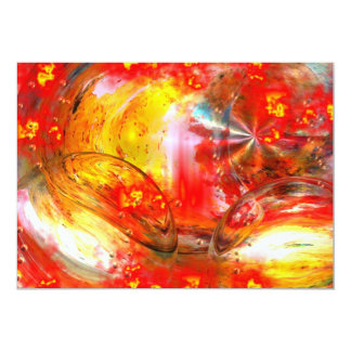 Red Digital Abstract Invitation