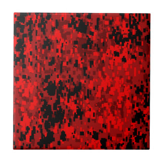 Red Digital Camo (AOM Design) Ceramic Tile