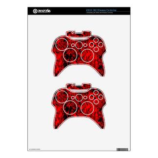 Red Digital Camo (AOM Design) Xbox 360 Controller Skin