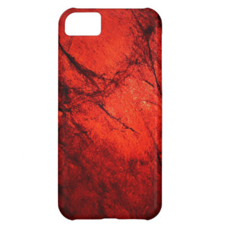 red Digital Radial Colours Blur Glow Art Beautiful iPhone 5C Cases