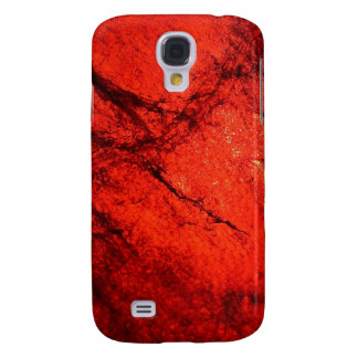 red Digital Radial Colours Blur Glow Art Beautiful Galaxy S4 Cover