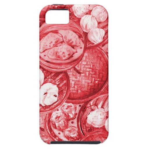 Red Dim Sum Case-Mate Case iPhone 5 Case