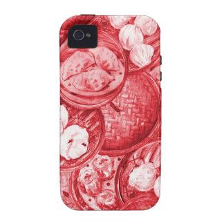 Red Dim Sum Case-Mate Case Vibe iPhone 4 Cases
