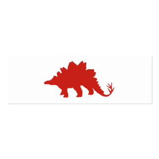 Red Dinosaur Double-Sided Mini Business Cards (Pack Of 20)