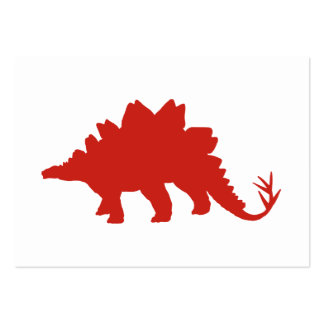 Red Dinosaur Large Business Cards (Pack Of 100)